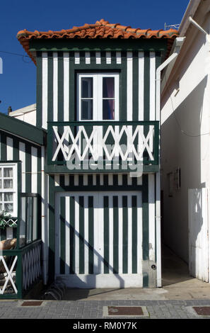 Interesting typical house of Aveiro, Portugal (collection - sea others in my portfolio) - Stock Photo