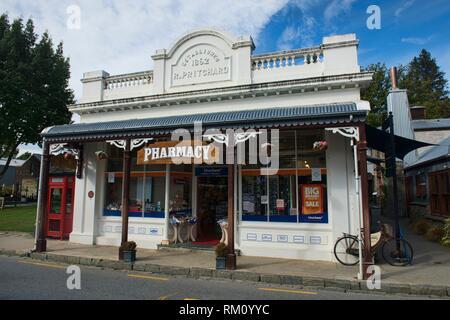 Old building in historic Arrowton, Otago, New Zealand. - Stock Photo