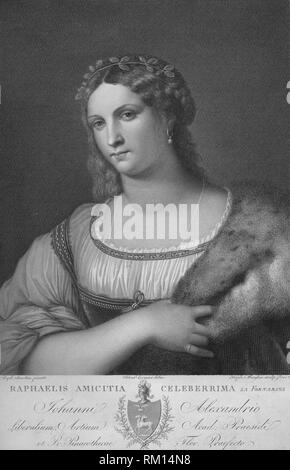 'La Fornarina', c1814. Creator: Raphael Morghen. - Stock Photo