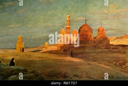 'The Tombs of the Caliphs', c1918-c1939. From an album of postcards. - Stock Photo