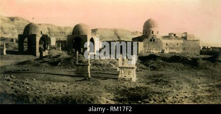 'Cairo: The Khalifa Tombs', c1918-c1939. From an album of postcards. - Stock Photo