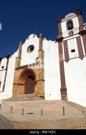 Silves (Portugal). Gothic cathedral of the village of Silves in the Portuguese Algarve. - Stock Photo