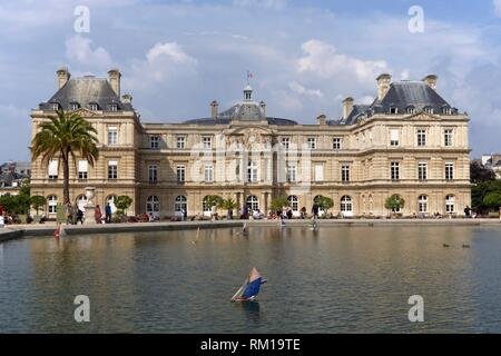 Paris (France) Luxembourg Palace in the city of Paris. - Stock Photo