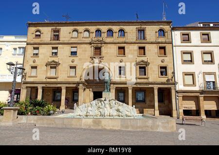 Úbeda (Jaén) Spain. Plaza de Andalucía in the historic center of the town of Úbeda. - Stock Photo