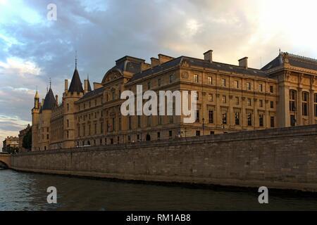 Paris (France). La Conciergerie on Ile de la Cité in Paris city. - Stock Photo
