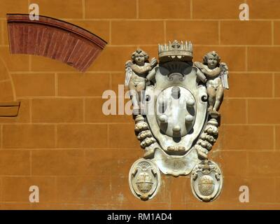 Pisa (Italy). Architectural detail in the Square of Miracles Pisa city. - Stock Photo