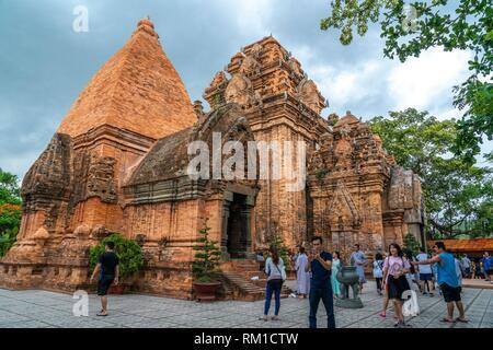 Cham temple Po Nagar near Nha Trang city, Vietnam, Asia - Stock Photo