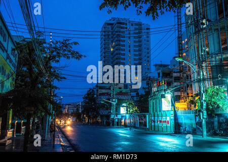 View over Nha Trang city, popular tourist destination in Vietnam. Cityscape of Nha Trang - Stock Photo