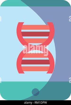 smartphone dna science molecule technology vector illustration - Stock Photo