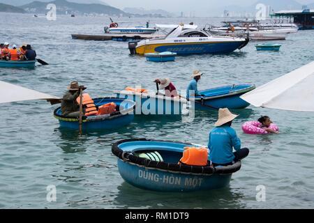 Beach of the island of Hon Mun, Nha Trang Bay, South China Sea, Nha Trang, Vietnam - Stock Photo