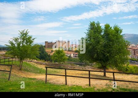 Overview. El Barco de Avila, Avila province, Castilla Leon, Spain. - Stock Photo