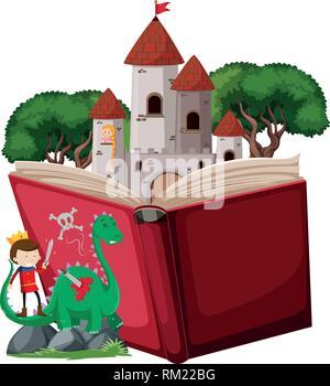 Prince fairy tale story illustration - Stock Photo