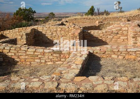 Escalante Pueblo, Anasazi Heritage Center, Canyons of the Ancients National Monument, Colorado. - Stock Photo