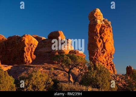 Garden of Eden, Arches National Park, Utah. - Stock Photo