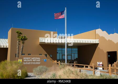 Visitor Center, Desert National Wildlife Refuge, Nevada. - Stock Photo