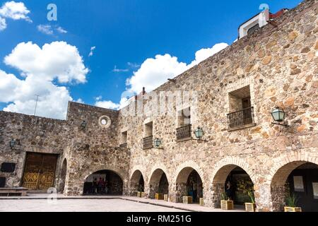 Front view of a Plaza De Aranzazu. San Luis Potosi, Mexico. - Stock Photo