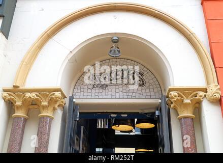 Afflecks Palace Entrance, Retro clothing emporium, 52 Church St, Manchester, North West England, UK,  M4 1PW - Stock Photo