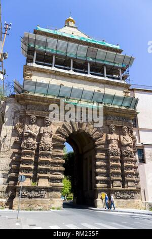 Porta Nuova was one of the main access routes to the city. Palermo, Sicily. Italy. - Stock Photo
