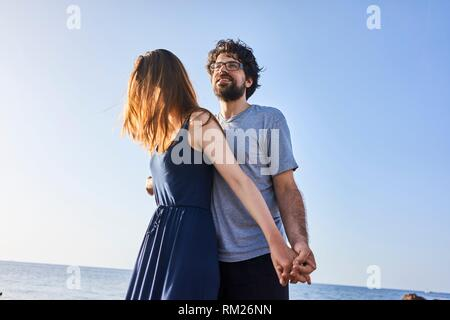 Greece, Crete, Hersonissos, couple - Stock Photo