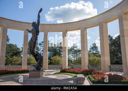 Normandy American Cemetery and Memorial. Colleville-sur-Mer, Omaha Beach, Normandy, France - Stock Photo