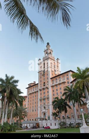 Biltmore hotel frontage at Coral Gable - Stock Photo
