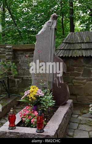 old cemetery of Zakopane, Podhale region, Tatra Mountains, Malopolska Province (Lesser Poland), Poland, Central Europe. - Stock Photo