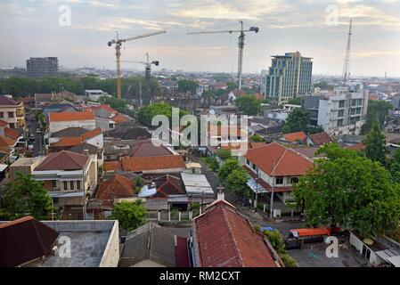 overview of Semarang from the Hotel Santika Premiere, Java island, Indonesia, Southeast Asia. - Stock Photo