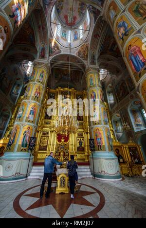 Russia, Kolomna. Interior of the Uspensky cathedral. - Stock Photo