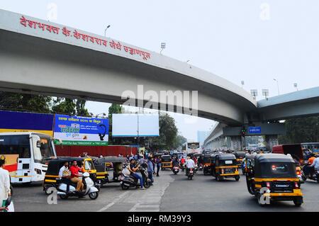Deshbhakta Keshavrao Jedhe bridge, Swargate, Pune, India - Stock Photo