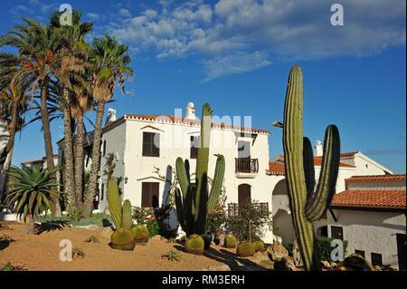 Platges de Fornells, seaside resort, Menorca, Balearic Islands, Spain, Europe. - Stock Photo