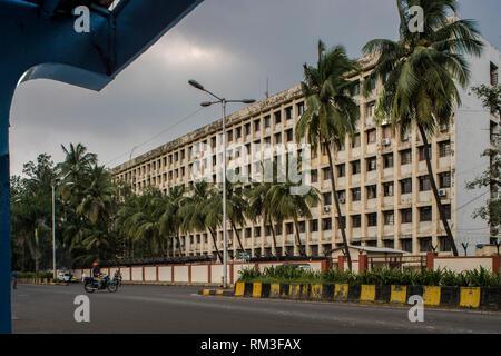 Building, Nirmala Devi Marg, Navi Mumbai, Maharashtra, India, Asia - Stock Photo