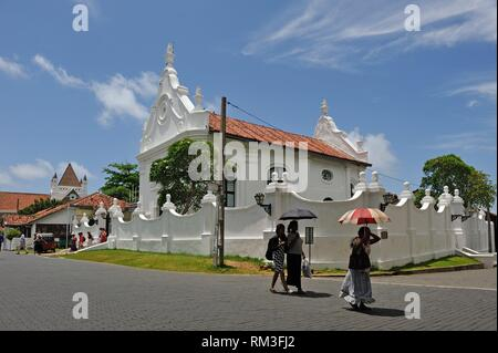 Dutch Reformed Church located within the Galle fort, Galle, Southern Province, Sri Lanka, Indian subcontinent, South Asia. - Stock Photo