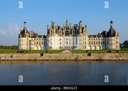Chateau de Chambord, Loir-et-Cher department, Centre-Val de Loire region, France, Europe.