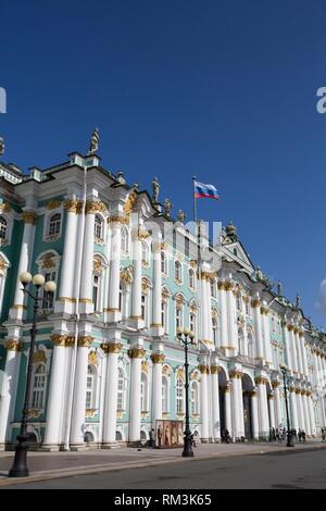 State Hermitage Museum, St Petersburg, UNESCO World Heritage Site, Russia - Stock Photo