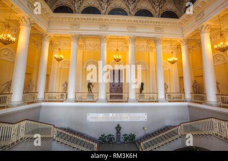 Grand Staircase, Russian Museum (Mikhailovsky Palace), St Petersburg, UNESCO World Heritage Site, Russia - Stock Photo