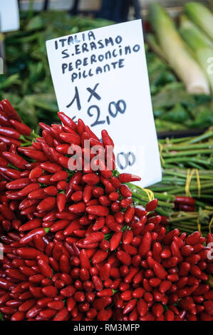 Colourful vegetables in a market, in Venice, Italy - Stock Photo