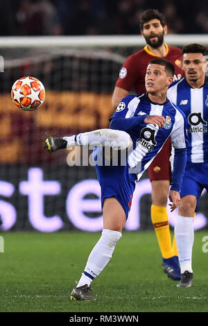 Rome, Italy. 13th Feb, 2019. Champions League Rome vs Porto Round of 16 1st leg, Rome, Italy - 12 Feb 2019 In the Picture Otavio Photo Photographer01 Credit: Independent Photo Agency/Alamy Live News - Stock Photo