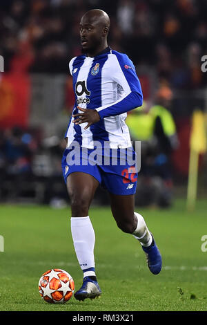 Rome, Italy. 13th Feb, 2019. Champions League Rome vs Porto Round of 16 1st leg, Rome, Italy - 12 Feb 2019 In the Picture Danilo Photo Photographer01 Credit: Independent Photo Agency/Alamy Live News - Stock Photo