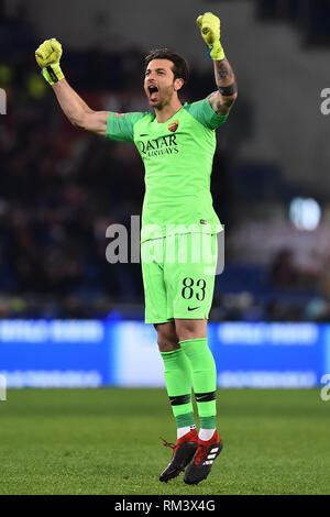 Rome, Italy. 13th Feb, 2019. Champions League Rome vs Porto Round of 16 1st leg, Rome, Italy - 12 Feb 2019 In the Picture Antonio Mirante Photo Photographer01 Credit: Independent Photo Agency/Alamy Live News - Stock Photo