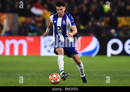 Rome, Italy. 13th Feb, 2019. Champions League Rome vs Porto Round of 16 1st leg, Rome, Italy - 12 Feb 2019 In the Picture Pepe Photo Photographer01 Credit: Independent Photo Agency/Alamy Live News - Stock Photo