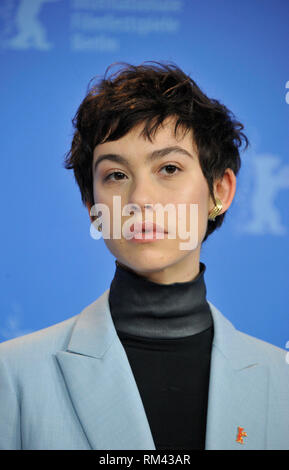 Berlin, Germany. 13th Feb, 2019. Berlin Film Festival. Photocall of the film Elisa & Marcela. Pictured: Greta Fernandez Credit: Independent Photo Agency/Alamy Live News - Stock Photo