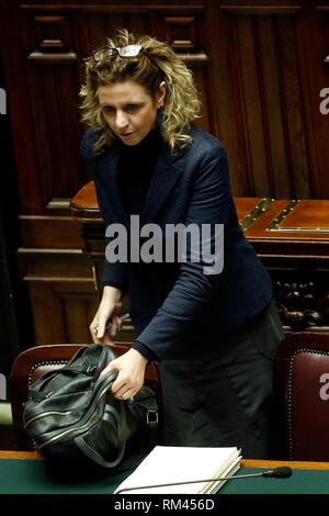 Rome, Italy. 13th Feb, 2019. Giulia Grillo Rome February 13th 2019. Lower Chamber. Ministers of Internal Affairs, of Labour and of Health at the Question Time at the Chamber of Deputies. Foto Samantha Zucchi Insidefoto Credit: insidefoto srl/Alamy Live News - Stock Photo