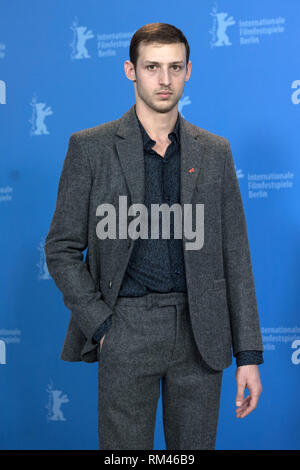 Berlin, Germany. 13th Feb, 2019. 69th Berlinale: Photocall competition 'Synonymes' (Synonyms): Tom Mercier, actor. Credit: Jörg Carstensen/dpa/Alamy Live News - Stock Photo