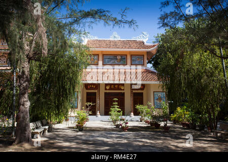 Dieu An Pagoda,temple, in Thap Cham, Phan Rang,, Ninh Thuan, Vietnam - Stock Photo