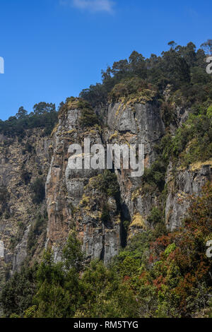 Pillar Rocks, Kodaikanal, Tamil Nadu, India, Asia - Stock Photo