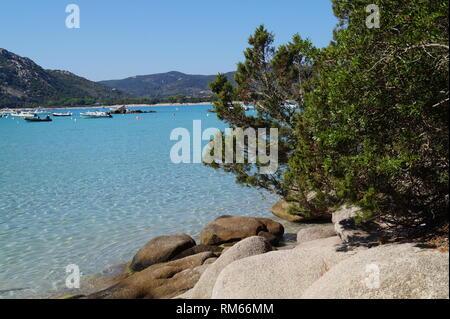Beautiful beaches - Santa Giulia Brach, South Corsica, Porto Vecchio Corsica - Stock Photo