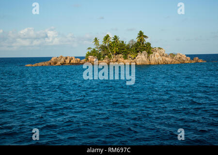 St. Pierre Island is a raised reef island west of Providence Atoll and part of Farquhar Group, which belongs to the Outer Islands of the Seychelles - Stock Photo