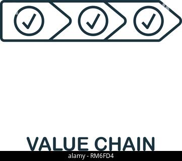 Value Chain icon. Thin line style industry 4.0 icons collection. UI and UX. Pixel perfect value chain icon for web design, apps, software usage - Stock Photo