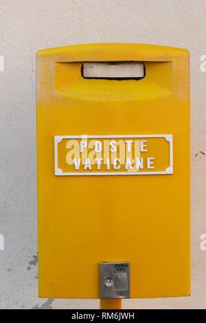 mailbox of the Vatican post, Poste Vaticane, Rome, Italy - Stock Photo