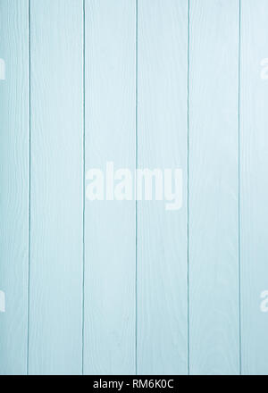Blue, turquoise wooden plank background. - Stock Photo